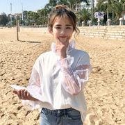 春服 新しいデザイン 韓国風 若いもの ポルカドット 長袖シャツ 学生 ルース 何でも似