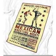 ★アンティークなメキシコの覆面レスラープリントがオシャレなポスター風プリントTシャツ★