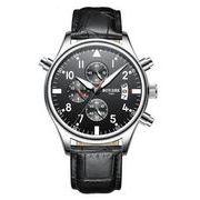 送料無料 bz メンズ クロノグラフ カレンダー腕時計 b-26