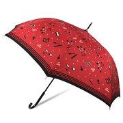 [60cm]耐風傘 婦人 傘 ジャンプ傘 レディース コスメ柄