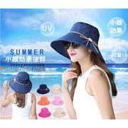 「小顔効果抜群!」オシャレな UVハット 帽子 レディース 大きいサイズ 日よけ 折りたたみ つば広 リボン