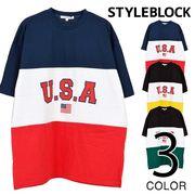 切替配色BIGTシャツ/sb-275711