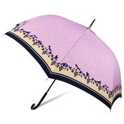 [60cm]耐風傘 婦人 傘 ジャンプ傘 レディース グレープ柄