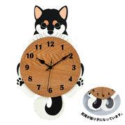 柴犬の振り子時計(黒柴)
