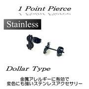 ステンレス★1ポイントピアス(ドル)★SK-Trade