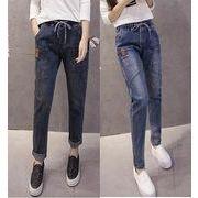 全2色 Gパン ジーパン ジーンズ 体型カバー デニム  ポケット シンプル ファッション