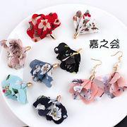 【激安販売 数量限定】単価33円 ハンドメイド用 桜の柄 耳輪 イヤリング アクセサリーパーツ