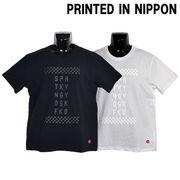 【2018春夏新作】ボディー同色NIPPONプリント Tシャツ(チェッカー)