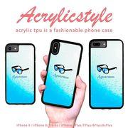 iPhone 7 8 X ケース サングラス アクアリウム 水