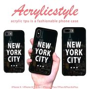 iPhone 7 8 X ケース ニューヨーク NEW YORK モダン ロゴ 景色 写真