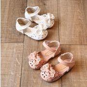 【子供靴】サンダル 可愛いデザイン リボン付き 11.5-18.5cm シューズ 女の子 靴 ベビー