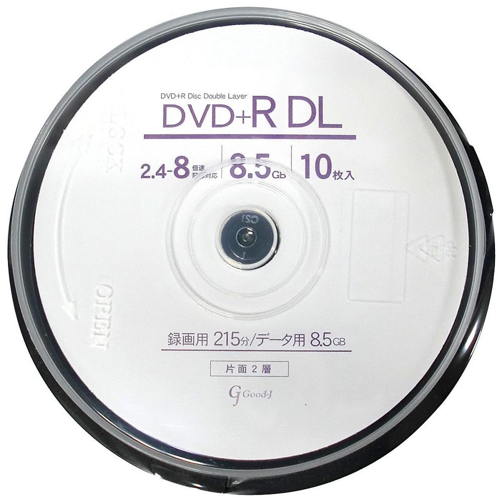 Good-J DVD+R DL CPRM非対応 データ&ビデオ対応(8.5GB/215min) GJDL+8X10PW