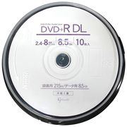 Good-J DVD+R DL CPRM非対応 データ&ビデオ対応(8.5GB/215min) GJDL+8X10PW