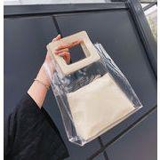 レディース バッグ トートバッグ 透明バッグ 大容量 エレガント インナーバッグ付き