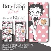 iPhone 7 8 X 手帳型 スマホケース ベティー ブープ(TM) ベティ-ちゃん キャラクター
