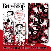 iPhone 7 8 X 手帳型 スマホケース ベティー ブープ(TM) ベティ-ちゃん キャラクター 5個セット