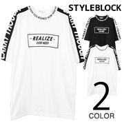 袖ロゴライン入りBIGTシャツ/sb-275737