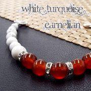 天然石 羽織紐 和装小物 着付け小物 カーネリアン ホワイトターコイズ 《SION パワーストーン 天然石》