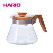 「公式」耐熱ガラスのコーヒーサーバーオリーブウッド 600ml VCWN-60-OV  HARIO(ハリオ)