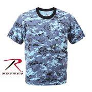 ROTHCO ロスコ 迷彩柄 半袖 Tシャツ スカイブルー・カモフラージュ柄 USA アメリカ直輸入