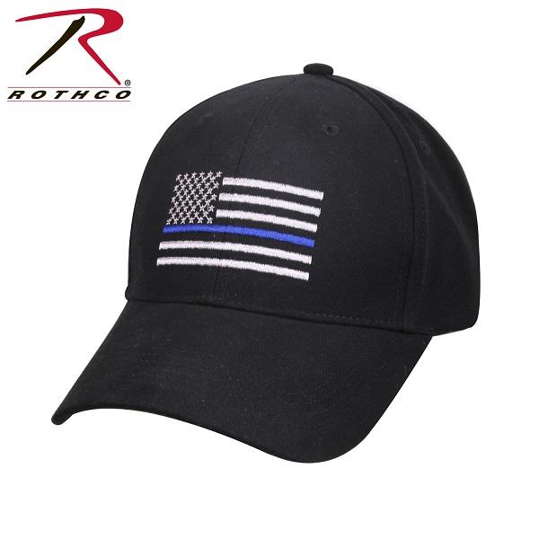ROTHCO ロスコ ツイン・ブルーライン・フラッグ 刺繍入り キャップ USA アメリカ直輸入 ミリタリー