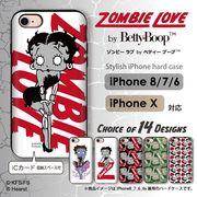 iPhone 7 8 X スマホケース icカード 収納 ハードケース ゾンビ ベティー ブープ(TM) ベティーちゃん ×5