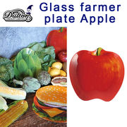 ■DULTON(ダルトン)■ GLASS FARMER PLATE APPLE