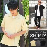 【improves】オープンカラーシャツ 半袖シャツ