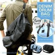 【improves】デニムドラムバッグ