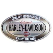 エンボスメタルサイン H-D Enjoy Ride Oval