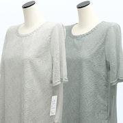 【初秋物】レディース シャツ 花柄 レース 半袖 Tシャツ 5枚セット