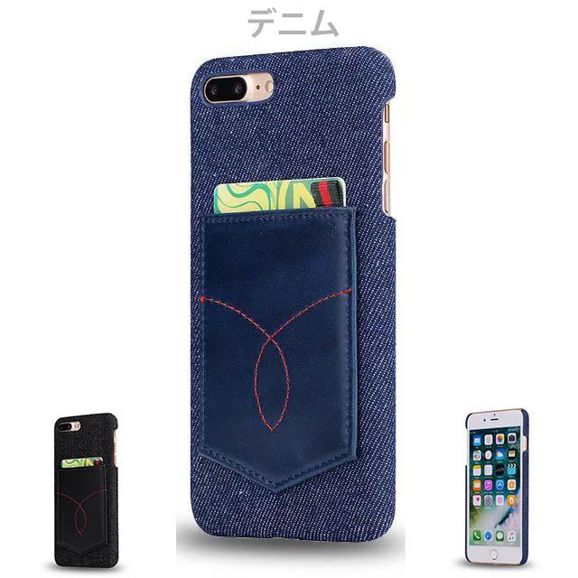 デニムiPhone8~6 8~6plus ケース ブラックデニム 生デニム ヴィンテージ ジャケットタイプ 2色/