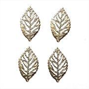 [ac-mg-20525] 透かしパーツ リーフ形小 木の葉 デコパーツ レジン ジョイント