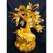 黄金三脚蝦蟇財神  金生樹