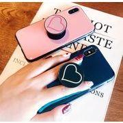 スマホケース iPhoneXRケース iphone7plus スマホホルダー付き ハート