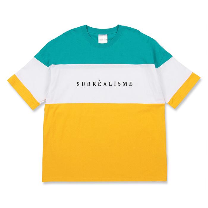 【2018春夏新作】20/-OE天竺 半袖 切替 BIG-Tシャツ(SURREALISM)