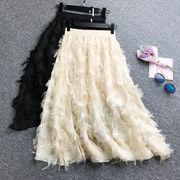 即納★通勤 通学 出かけ パーティー 二次会  披露宴 個性タッセル  スカート