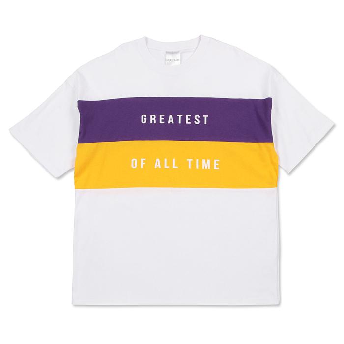 【2018春夏新作】20/-OE天竺 半袖 切替 BIG-Tシャツ(GREATEST)