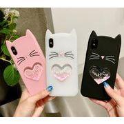ラメが流れるケース iphone7 ケース かわいい 猫耳