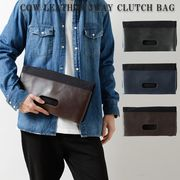 本革×キャンバス3WAYショルダークラッチバッグ/sb-bag-033