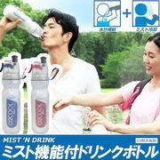 水分補給+ミスト冷却!ミスト噴射機能付きダブルウォールドリンクボトル! ドリンクミストDW