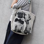 <AMANO>【ジャガード織りバッグ】【トートバッグ】BAG・パグペア