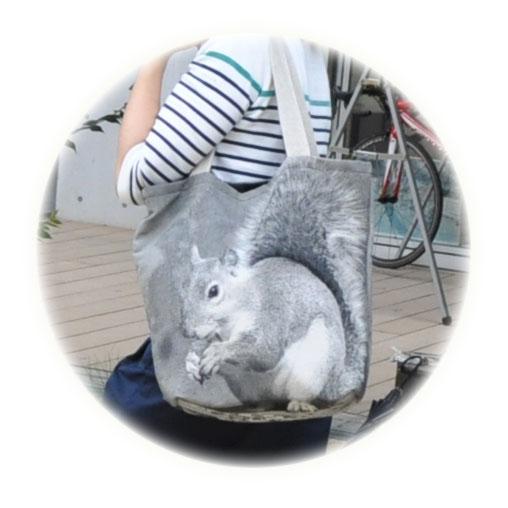 <AMANO>【ジャガード織りバッグ】【トートバッグ】BAG・リス