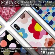 強化ガラス 耐衝撃 iPhone ケース iPhone8 ケース Galaxy S9 ケース TPU