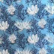 ハワイアン生地 ブルーコーラル サンゴ