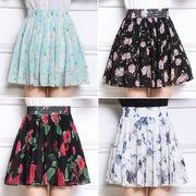 夏 シフォン 短いスカート スカート フローラル ポルカドット チュチュ 大きいサイズ