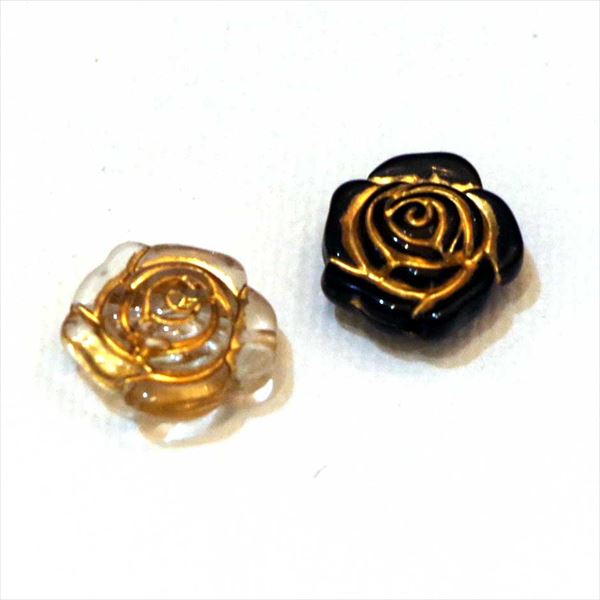 rikiビーズ【riki-179】ローズ/薔薇/モダンビーズ/ビーズパーツ/ハンドメイド/手芸