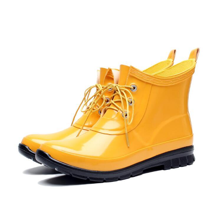 レインブーツ 短靴 ショート丈ブーツ 雨靴 雨の日も普段使いにも