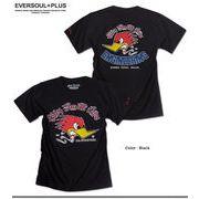 ★バイカーテイストのプリントがCOOL!★ビンテージ感のあるモーターサイクルEAGLEプリントTシャツ★