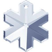 スワロフスキー(R)クリスタル 雪の結晶型 ペンダントトップ 20mm